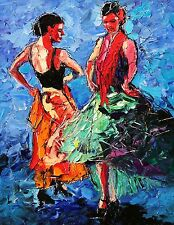 SPECIAL - ANDRE DLUHOS WOMEN FLAMENCO DANCER SPAIN MUSIC Figure LTD ED ART PRINT
