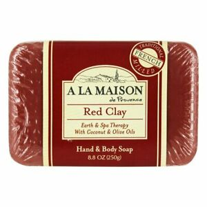 A LA Maison de Provence French milled red clay bar soap