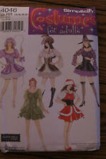 Simplicity Costume Pattern #4046 Sexy Female Characters Sz RR 14,16,18,20 NIP