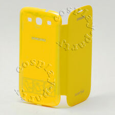 Authentic Samsung Galaxy S3 S III Flip Cover Hard Shell Snap Case Yellow New