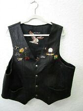Harley Davidson Men's Black Leather Motorcycle Biker Vest XL