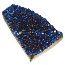 "US-MADE 3/4"" COBALT BLUE TAPER TITANIUM DRUZY DRUSY 18X12MM cabochon"