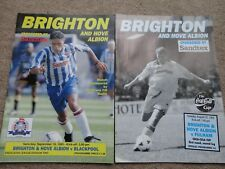 football programmes BRIGHTON HOVE ALBION BLACKPOOL 1995 fulham league cup 1995