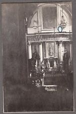 VINTAGE 1911 MEXICO CITY GUADALUPE MYSTERIOUS PAINTING VIRGIN MARY ANGELS PHOTO