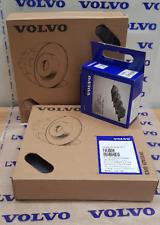 Volvo C30 2.0D 01//07-05//10 Front Brake Discs Black Dimpled Grooved+Mintex Pads