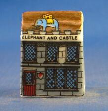 Birchcroft Miniature House Shaped Thimble -- Elephant and Castle Pub