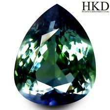 2.84 ct HKD Certified Pear Shape (11 x 7 mm) Bluish Violet Tanzanite AAA