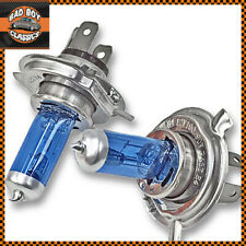 H4 100W Super White XENON Halogen Car Motorcycle Headlight Bulbs x2