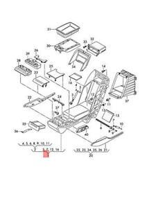 Genuine AUDI A8 S8 quattro 4HC 4HL Middle Armrest Nutmeg Brown 4H0885075ABBZ4