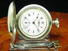 K. Serkisoff & Co 800 Silber Savonette Osmanische Taschenuhr Schlüsselaufzug