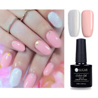 2bottles Pink Glitter Gel Polish LED UV Soak Off Nail Gel Varnish Manicure 7.5ml