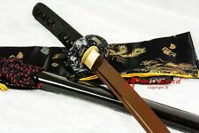 BATTLE READY 9260 SPRING STEEL BLADE JAPANESE KATANA RED BLADE  SWORD