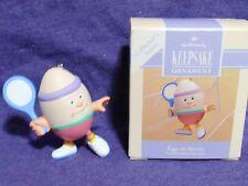 Eggs In Sports hallmark ornament #2 easter egg tennis racket 1993 QEO833-2 MIB