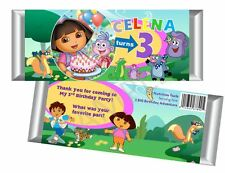 Dora the Explorer Candy Bar Wrappers - Party Birthday Favors Set of 12