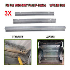 3x Truck Bed Support Rails For 1999-2017 Ford Super Duty F-250 F-350 w/6.5ft Bed