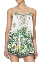 Camilla Franks Daintree Darling Shoestring Strap Playsuit- Size XS