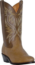 Laredo Men's London Tan Distressed R-Toe Western Cowboy Boot 4212