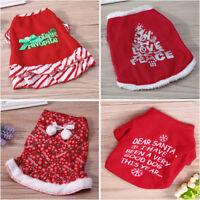 Pet Dog Cat Christmas Shirt Coat Costume Xmas Puppy Clothes Vest Warm Apparel