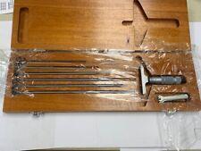 Brown And Sharpe 599 603 126 3 Vernier Depth Gauge Micrometer Type 0 6