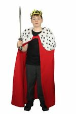 The Dragons Den Childs Red Deluxe Kings Cape Fancy Dress Age 8-12