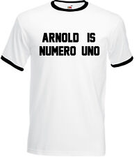 Arnold Is Numero Uno T-Shirt As Worn By Schwarzenegger Mens Gym Training Top