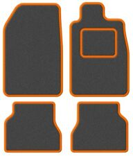 TVR Tasmin 85 85- Super Velour Dark Grey/Orange Trim Car mat set