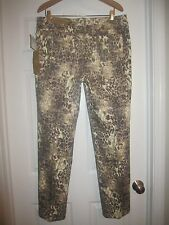 NWT LEOPARD gold jeans pants /Peck & Peck/$98/16/matching jacket available ~ set