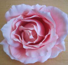 "4.5"" Soft Pink Silk Rose Flower Brooch Pin Dance Prom"