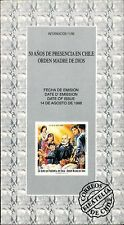 Chile 1996 Brochure 50 años Presencia en Chile Orden Madre de Dios