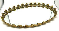 Stylebuilt Vanity Tray Mirror Vtg Filigree Ornate Gold Gilt Rose Ormolu Huge 24""