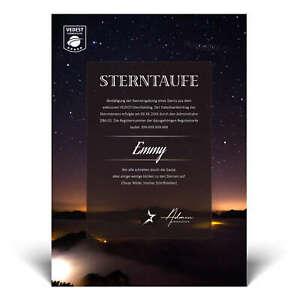 Sterntaufe Geschenk mit Namen personalisiert, Romantik Geschenke Frau Mann Liebe
