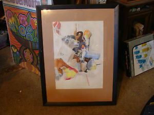 Original Framed Art PAINTING, drawing, etc: signed S. herenson twice