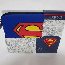 "SUPERMAN: JUSTICE LEAGUE BLUE 10"" NEOPRENE TABLET/IPAD SOFT SLEEVE CASE"