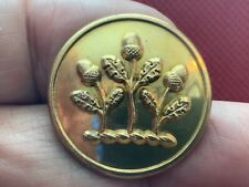 Huth Family ~ 3 Dancing Acorns 26.1mm Gilt Livery Button Firmin 1895-1915