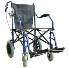 Lightweight heavy duty folding Transport Wheelchair in a bag with brakes