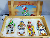 Polonaise Royal Suite Cards Alice in Wonderland Wood Crate - GP552 NEW Set of 4