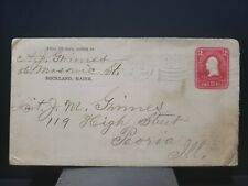 Classic Cover 2c Washington red Stationary 1905 Flag Cancel