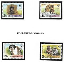 GUINEA - NH SET-SOUVENIR SHEETS-MINISHEETS of 2000 - WWF - ANIMALS - MONKEYS