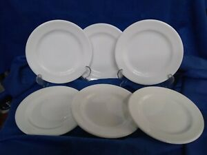 6 x Wedgwood Bone China White Starter / Side Plates 18cm Diameter