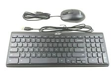 Acer USB Wired Black Keyboard and Optical Mouse for Desktop PC New in Box