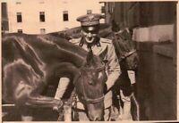 FOTO DEL 1939 - MILITARE REGIO ESERCITO ARTIGLIERIA A CAVALLO - - NOVARA -