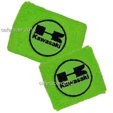 KAWASAKI RESERVOIR SOCKS BRAKE/CLUTCH FLUID TANK OIL CUP COVER GREEN&BLACK SET
