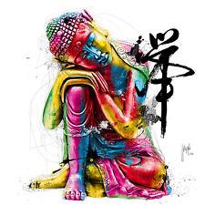 Patrice Murciano: Buddha Fertig-Bild 50x50 Wandbild bunt modern Kult