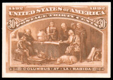 1893 30c COLUMBIAN PLATE PROOF ON CARD #239P4 fresh. pristine and $100.00