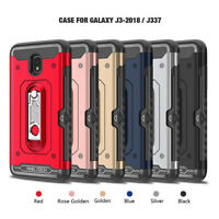 For Samsung Galaxy J3 Achieve/Star/Express Prime 3/2018 Hard Case+Tempered Glass