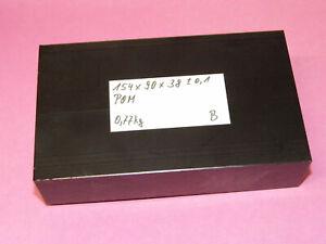 POM / DELRIN-Platte 154 x 90 x 38 mm - Schwarz - 0,77 kg - B