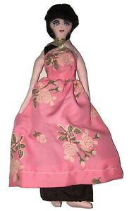 Old Antique Hand Made Painted Face Cloth Rag Doll Vintage