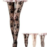 Stockings Tights Socks Floral Flower Sheer Lace Top Thigh High Socks Stockings