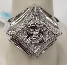 10K Mens Diamond Ring Jesus Face.. Amazing Quality Diamonds
