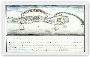 NEW YORK CITY AMERICA 1765 BRITISH STAMP COLONY ACT HISTORIC RARE HARDBACK MAP